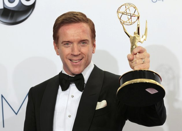 Britain's Damian Lewis wins Best Actor for a TV Drama during the recent 64th Emmy Awards. (Getty Images)