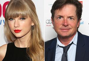 Taylor Swift, Michael J Fox | Photo Credits: Rob Kim/FilmMagic; Mike McGregor/Getty Images