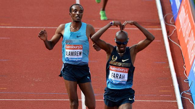 Athletics - Back to drawing board for Farah's Moscow rivals