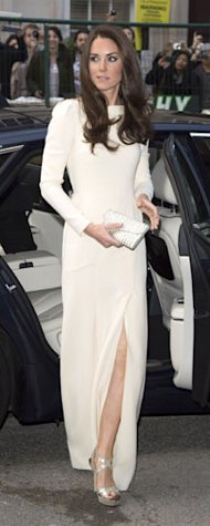 Rihanna in Adam Selman, Kate Middleton in Roland Mouret, Anja Rubic in Anthony Vaccaro: Introducing The White Slit Dress!