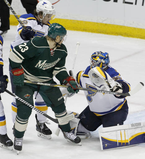 Pominville, Parise give Wild 3-0 win over Blues