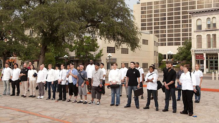 "The cast from Season 9 of ""Top Chef."""