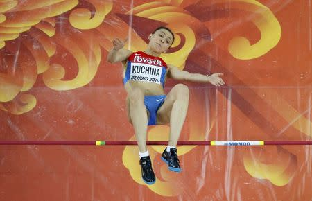 Russian Kuchina takes high jump gold