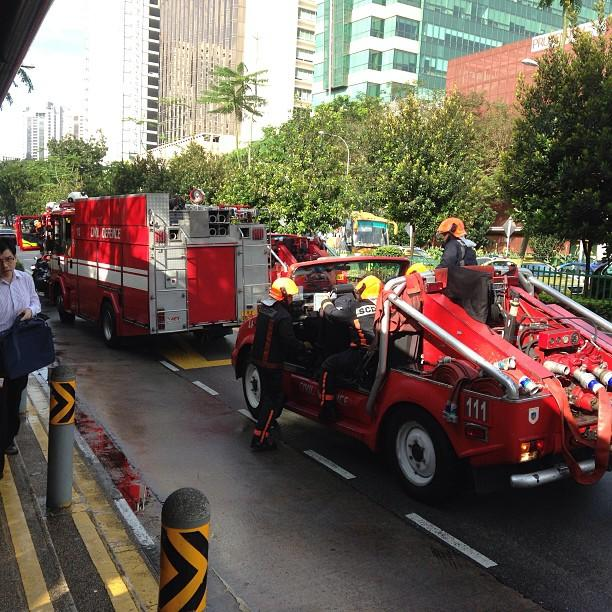 SCDF deployed two fire engines and several support vehicles to put out the fire.