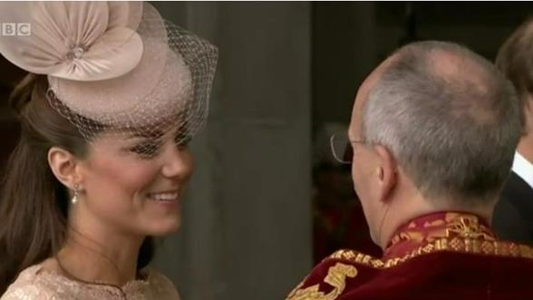 Kate Middleton in Alexander McQueen, The Queen in Angela Kelly For Diamond Jubilee Service of Thanksgiving