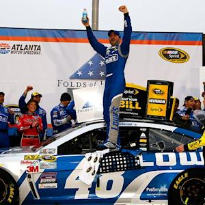Johnson celebrates his win at Atlanta