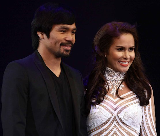 Manny Pacquiao with Wife Jinkee Pacquiao