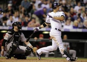 Gonzalez hits 3 homers as Rockies rout Astros 13-5