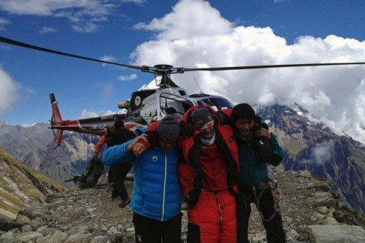 The avalanche happened at around 7,400 metres, rescuers said