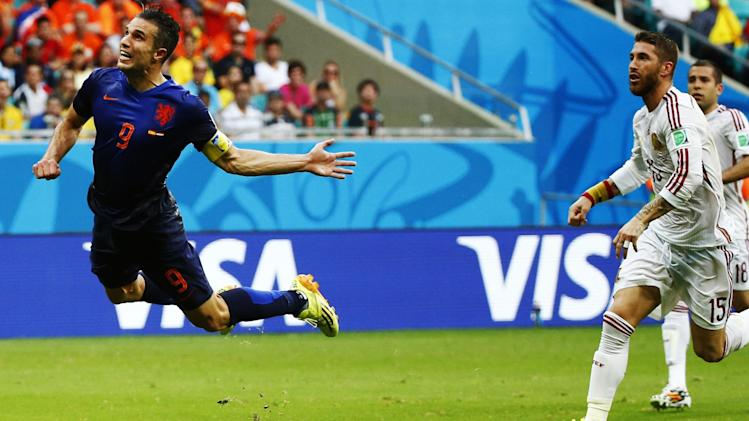 Robin van Persie's majestic first goal changed the tone of the match.