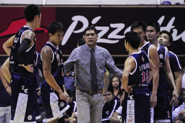 Louie Alas may have coached his last game with Letran. (Angela Galia/NPPA Images)