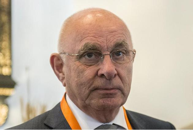 The president of the Dutch Football Federation, Michael van Praag, pictured during the 37th Confederation of African Football (CAF) Ordinary General Assembly, in Cairo, in April 2015