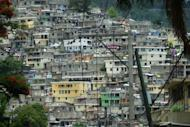 A general view of the hillside slum of Port-au-Prince on July 12. The city is braced for a tropical storm