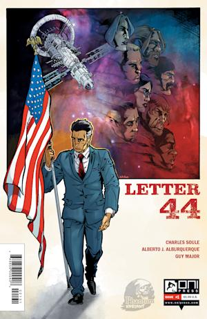 "This image provided by Oni Press shows one a version of the cover of Charles Soule's ""Letter 44,"" a series where humanity finds the stars hold not just ambition, but a threat kept hidden. Soule says the new series released Wednesday, Oct. 16, 2013 is a measured essay on the human spirit, and the quest for knowledge knowing that there is life up there and it may not be friendly. (AP Photo/Oni Press)"