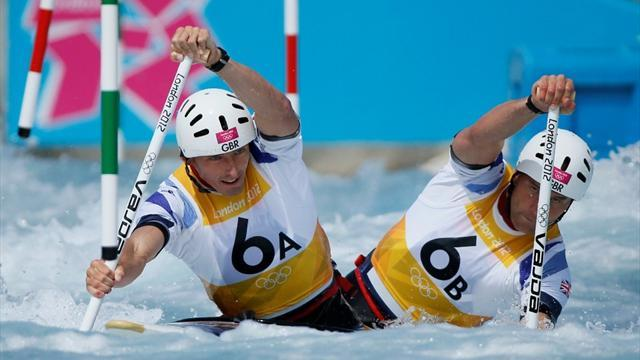 Two British pairs in Olympic C2 final