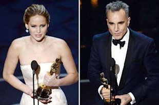 Jennifer Lawrence and Jeremy Irons