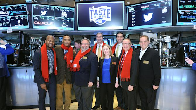 The Taste Of The NFL Visits The New York Stock Exchange