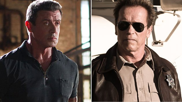 Stallone in 'Bullet to the Head,' Schwarzenegger in 'The Last Stand'