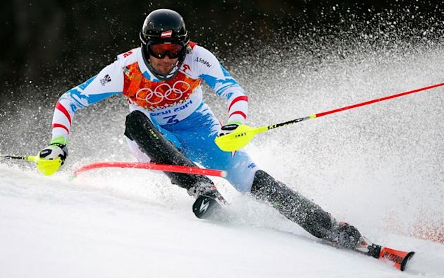 What's it like to ski with an Olympic slalom champion?
