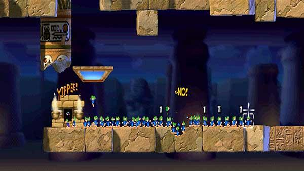 Most lemmings saved - 366
