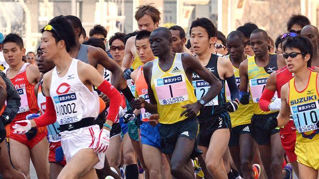 Athletics - Kimetto sets Tokyo record in only second marathon