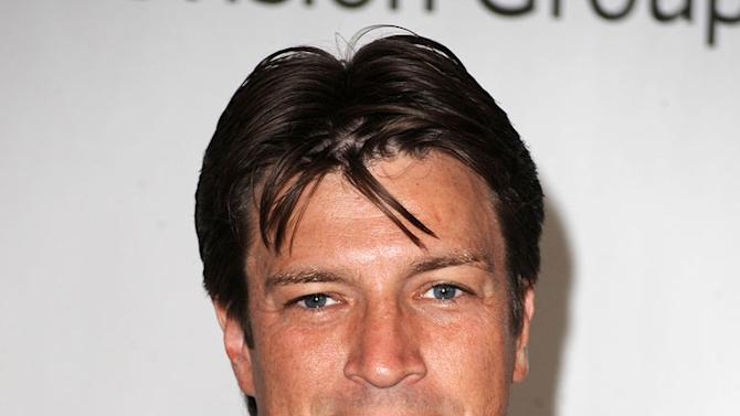 """""""Castle's"""" Nathan Fillion arrives at NBC Universal's 2010 TCA Summer Party on July 30, 2010 in Beverly Hills, California."""