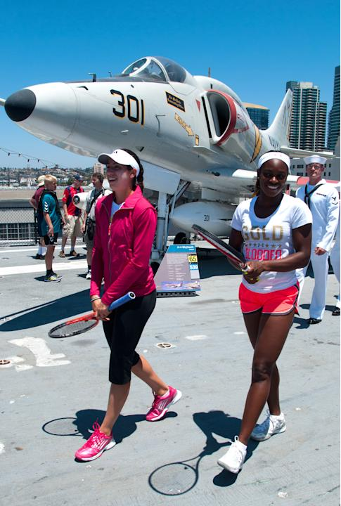 Mercury Insurance Open - USS Midway Player Appearance