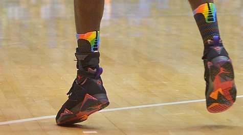 The socks that Marist players wore Friday night at Duke (AP)