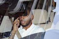 France international footballer Yann M'Vila, leaves the French Football Federation headquarters. He was issued with a warning, while Manchester City midfielder Samir Nasri was handed a three-match ban over behaviour during Euro 2012