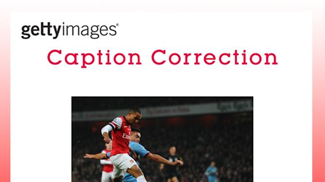 CAPTION CORRECTION: Arsenal v West Ham United - Premier League