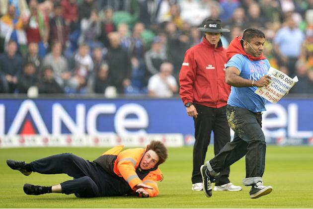 Rugby tackle in cricket