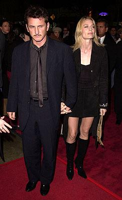 Sean Penn and Robin Wright Penn at the Los Angeles premiere of Warner Brothers' The Pledge