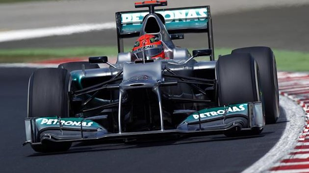 2012 Hungarian GP Mercedes Schumacher