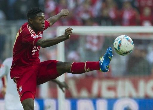 Alaba is likely to be out of action for between six and eight weeks