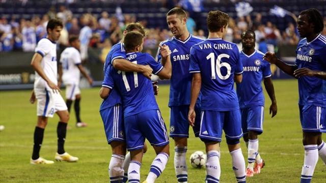 Premier League - Chelsea down 10-man Internazionale