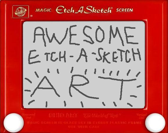Awesome Etch-A-Sketch Art