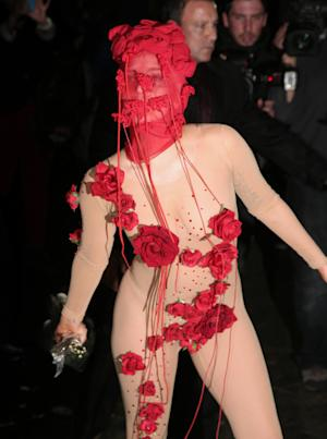 Recording artist Lady Gaga arrives at the Roseland…
