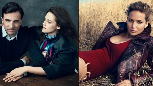 Nicolas Ghesquiere, Kristen Stewart and Jennifer Lawrence pictured for the Vogue 120 issue -- Vogue