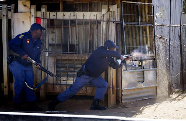 Police officers in Johannesburg, South Africa