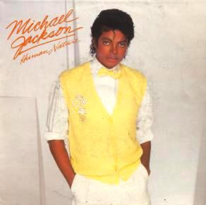 A lemony-yellow vest and bow tie was the chosen getup for the single, Human Nature.
