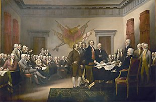 Colonists Signing Declaration of Independence