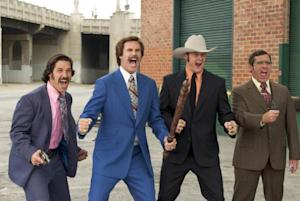 "Will Ferrell and Steve Carell in ""Anchorman: The Legend of Ron Burgandy""  -- Dreamworks"