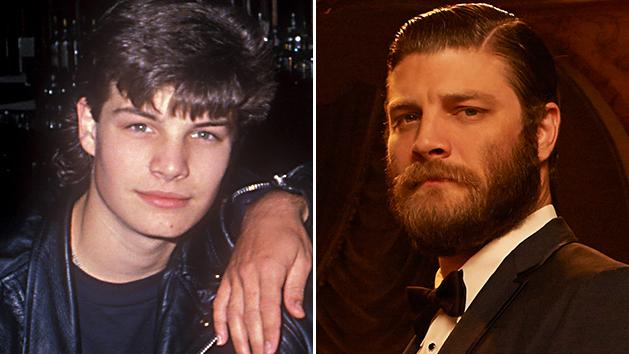 """Jay R. Ferguson in """"The Outsiders"""" (1990) and """"Mad Men"""" (2013)"""