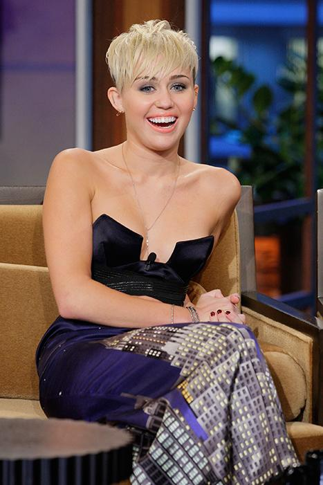 Miley Cyrus Narrowly Avoids Nip Slip on Tonight Show