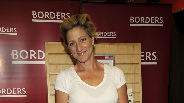 "Edie Falco promotes Carl Capotorto's ""Twisted Head"" at Borders Books & Music, Columbus Circle on September 8, 2009 in New York City."