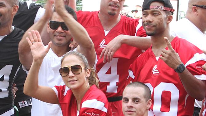 Jennifer Lopez Pre-Concert Celebrity Football Game Benefiting Hurricane Sandy Relief