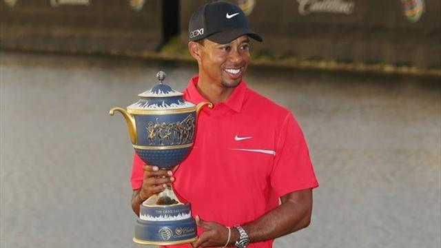Golf - Woods gets second win of year with triumph at Doral