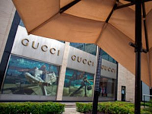A Gucci Group store at the DLF Emporio luxury shopping center in New Delhi, India.