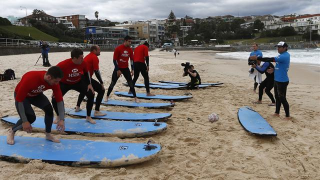 Lions Tour - Woodward: Lions should not be out surfing