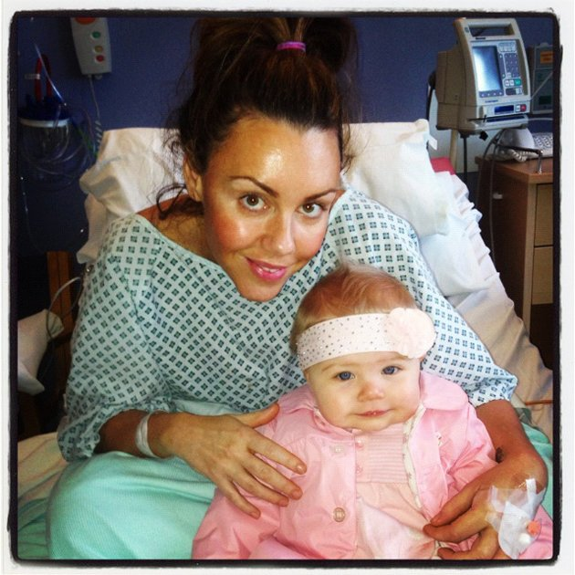 Michelle Heaton and baby Faith